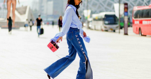 10 Permainan Aksen Celana Jeans