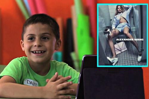 Inilah Aksi Spontan Anak-Anak Melihat Foto Model di Iklan Fashion