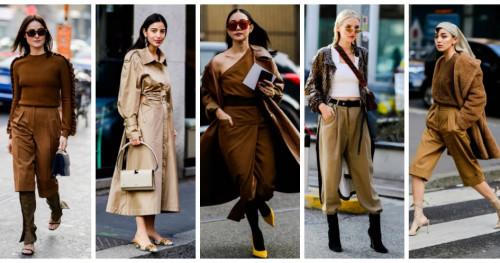 Busana Warna Camel Mendominasi Street Style di Milan Fashion Week 2019